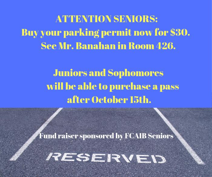Senior Parking Permit Fundraiser - News and Announcements